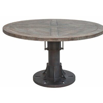 Home Trends Design Sterling Reclaimed Solid Wood Dining Table