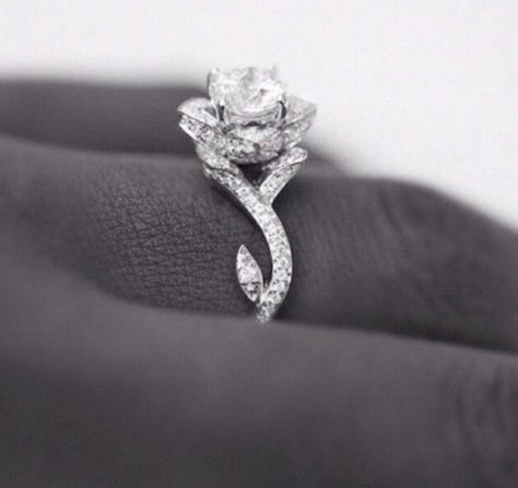 Absolutely the most beautiful wedding ring I've ever seen I'm in love! now the cut of the diamond needs to be a heart!