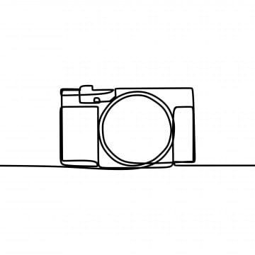 Digital Camera With Single One Line Art Drawing Vector Illustration Camera Clipart Logo Drawing Png And Vector With Transparent Background For Free Download Camera Drawing Line Art Drawings Single Line Drawing