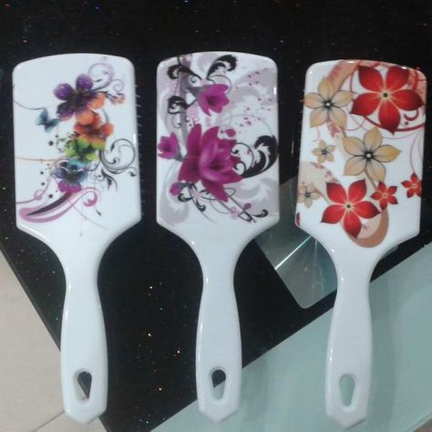 Polka Dot Purple ART in HOME  Design Lady Dish Brush