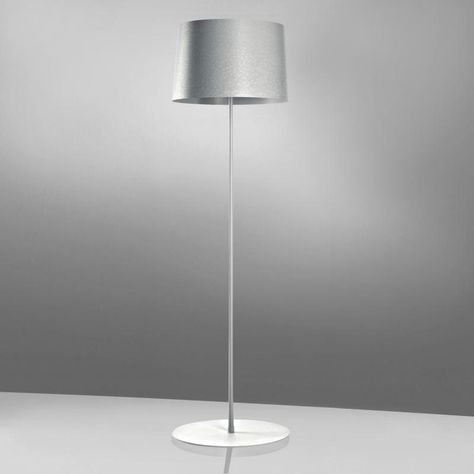Artiva Saturn 71 In Brushed Steel Led Torchiere Floor Lamp With