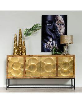 aparador art deco, oro natural, madera, hood 200cm | Art