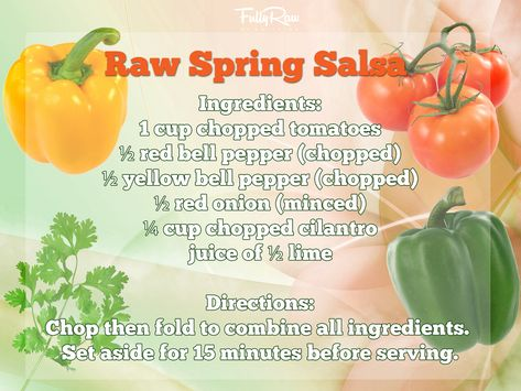 This spicy raw vegan salsa is perfect for Spring and Summer dinners! https://www.facebook.com/FullyRawKristina