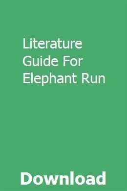 Literature Guide For Elephant Run Geometry High School Book Talk Literature