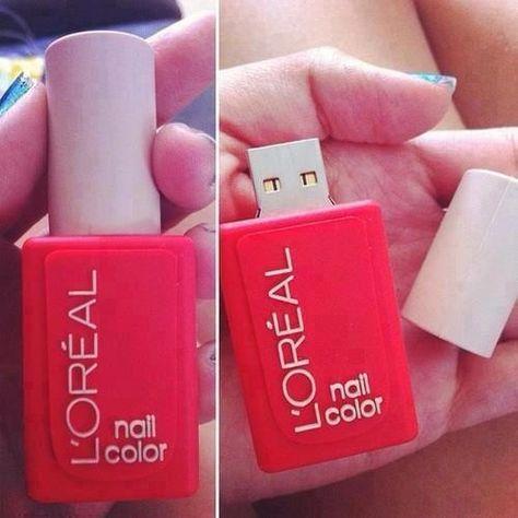 L'Oreal Paris nail polish bottle USB
