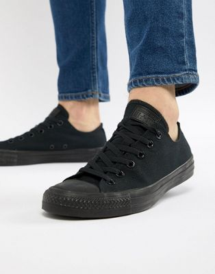 Converse | Converse All Star ox plimsolls in black m5039c