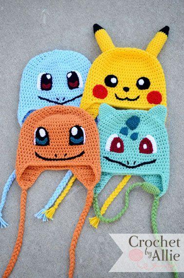 FREE Pokemon Pikachu Inspired Hat Crochet Pattern - YarnWars.com | 570x378