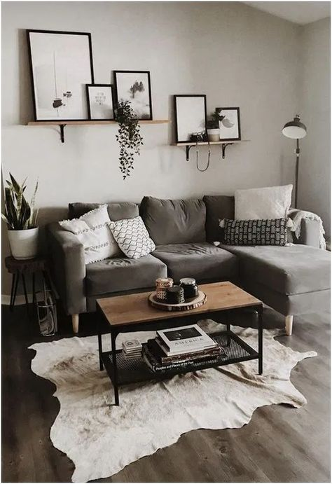 ✔ 28 comfy small apartment living room decorating ideas on a budget 8 | Home Sweet Home