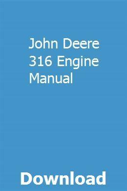 John deere technical manual 316 318 420 lawn and garden tractors.