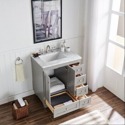 Three Posts Lauder 31 Single Bathroom Vanity Set Base Finish Grey Small Bathroom Vanities Single Bathroom Vanity Small Bathroom Makeover