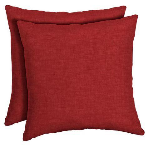 12 X 20 Inches Red 4TH Emotion Outdoor Waterproof Lumbar Pillow Covers Garden Cushion Case for Christmas Patio Couch Sofa Polyester Cotton Home Decoration Pack of 2