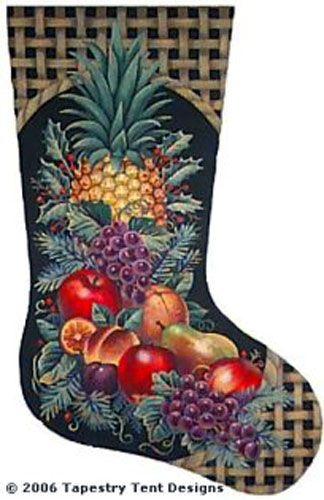 Christmas Fruit Needlepoint Stocking