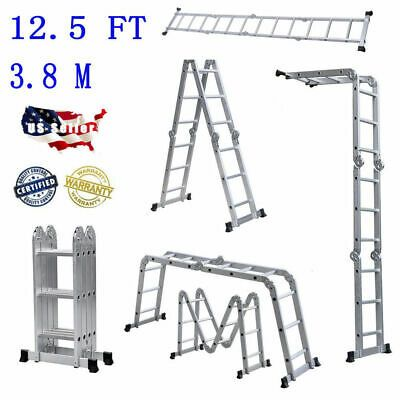Ad Ebay En131 Aluminum Ladder Folding 12 5ft 12 Step Scaffold Extendable Platform Folding Ladder Aluminium Ladder Telescopic Ladder