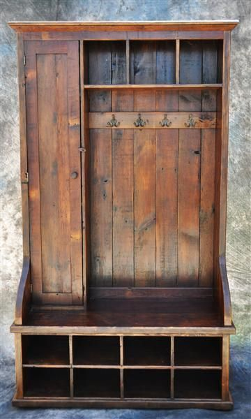 Entranceway Mudroom Hall Tree Bench 48 Inch Reclaimed Wood Door