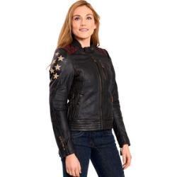 Reduzierte Herbstjacken für Damen | Lederjacke schwarz