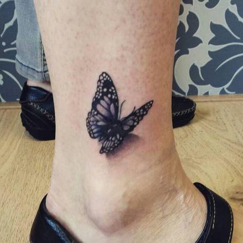3d Vlinder Enkel Tattoo Vlinder Tatoeages Tatoeage En