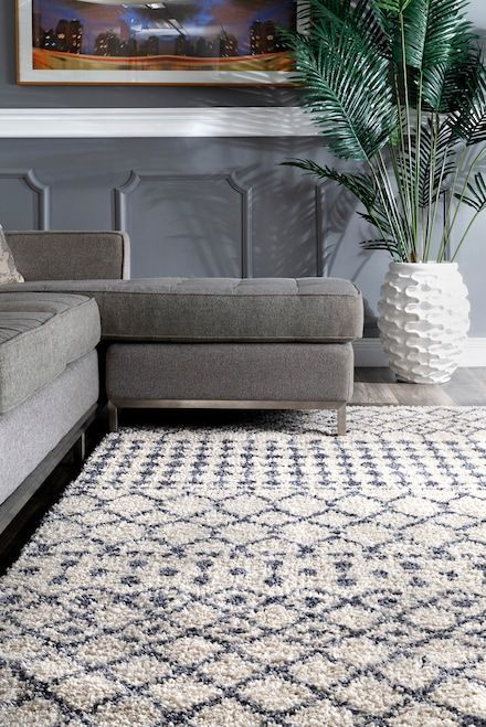 Pickette Moroccan Trellis Soft Shag Beige Rug Rugs In Living Room Cheap Living Room Rugs Area Rugs Cheap