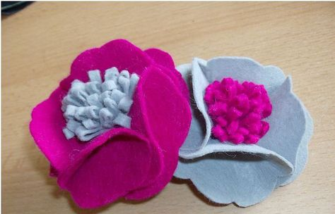 Simple Felt Flowers (Fabricflowers.wordpress.com)