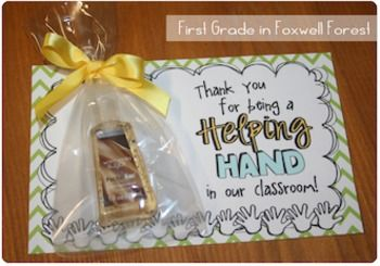 Thank your volunteers with this Helping Hands gift!!