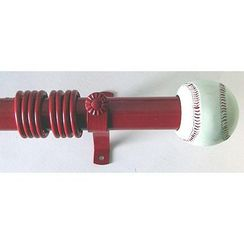 Baseball Curtain Rods Sears With Images Buying Appliances Baseball Curtains Baseball Room