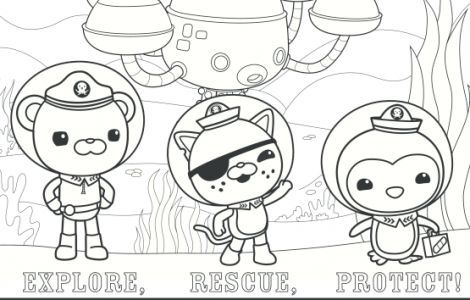 disney jr octonauts coloring pages fun for kids pinterest disney jr