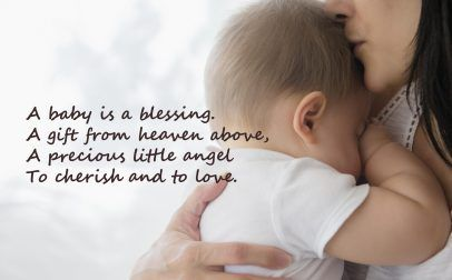 10 Best Baby and New Mom Quotes – 08 - A baby is a blessing - HD Wallpapers | Wallpapers Download | High Resolution Wallpapers
