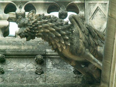 Les gargouilles de la cathédrale, Tours, Indre et Loire