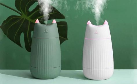 Adorable Cat USB Air Humidifier is