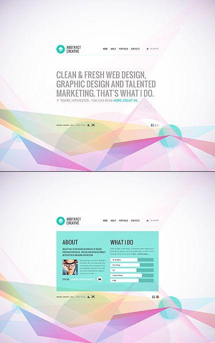 Template 40204 Creative Studio Flash Xml Website Template Colorful Abstract Design Web Design Trends Web Design Flash Templates