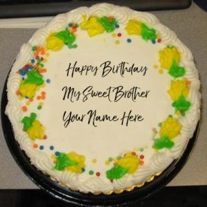 Brother Name Wishes Sweet Birthday Cake Profile Pictures In 2020