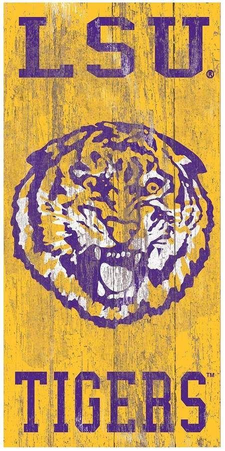 Lsu Tigers Heritage Logo Wall Sign Lsu Tigers Football Lsu Tigers Lsu