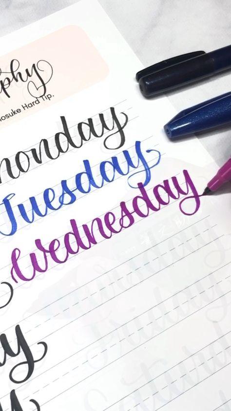 Learn to letter the days of the week | lettering for bullet journal  #bulletjournal #vialdesigns #bujolettering #learnlettering #calligraphypractice