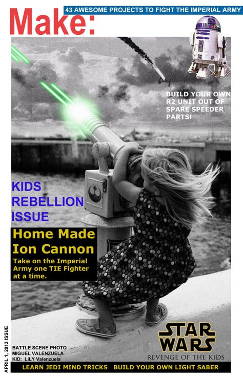 Star Wars-themed spoof MAKE magazine cover (submitted by a reader, for April Fools!)
