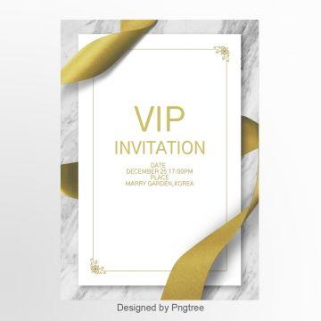 White Simple Private Business Vip Invitation Letter