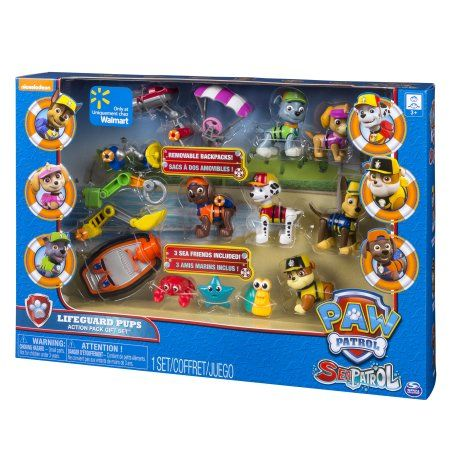 Quatang Gallery- Paw Patrol Sea Patrol Lifeguard Pups Action Pack Gift Set Exclusively Available At Walmart Walmart Com Paw Patrol Party Food Paw Patrol Paw Patrol Toys