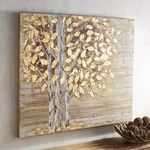 Planked Golden Birch Trees Art