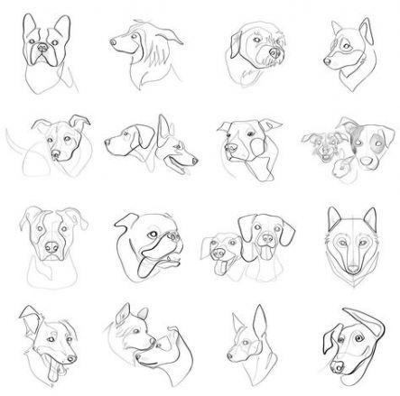 Tattoo Geometric Dog Etsy 17 Ideas Dog Print Art Dog Tattoos Geometric Dog