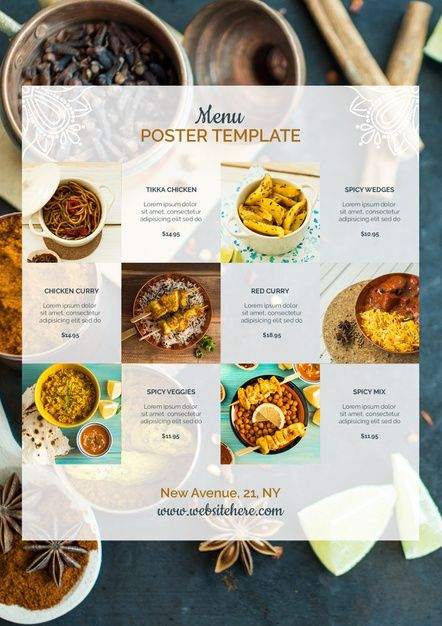Download Modern Indian Food Poster Template For Free Food Poster Indian Food Recipes Food Menu Template