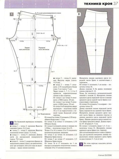 Выкройка спортивных женских трикотажных штанов на резинке