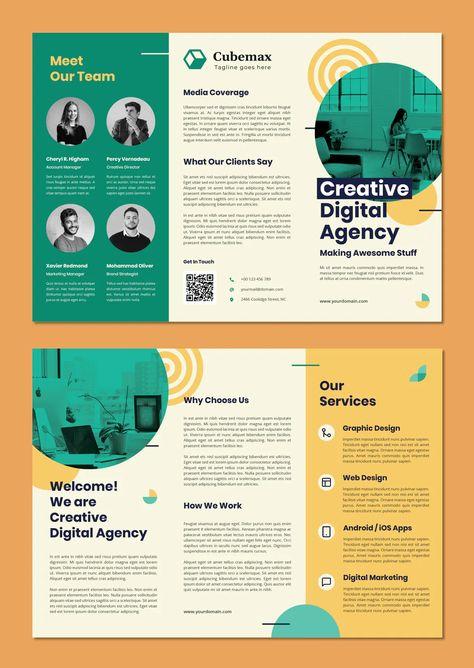 Digital Agency Tri-Fold Brochure Template