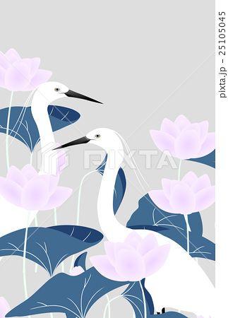 二羽の白鷺とピンクのハスの花のイラスト素材 No 25105045 写真素材 イラスト販売のpixta ピクスタ では3 590万点以上の高品質 低価格のロイヤリティフリー画像素材が540円から購入可能です 毎週更新の無料素材も配布しています イラスト ハスの花 白鷺