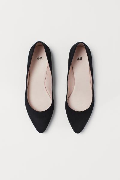 Pointed Flats - Black - Ladies   H\u0026M US