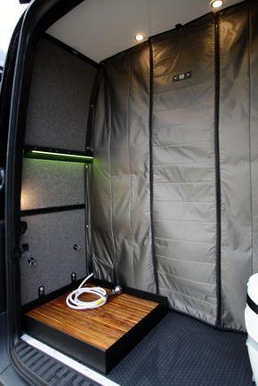 07 Sprinter Van Removable Shower Pan 170 Sprinter Van Van Living Van Conversion Interior