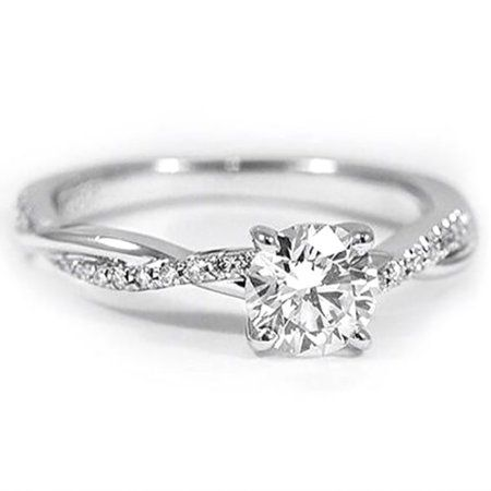 Ginger Lyne Collection Queena Twisted Engagement Ring Sterling Silver Cz Womens Ginger Lyne Walmart Com Wedding Rings Simple Beautiful Engagement Rings Beautiful Wedding Rings
