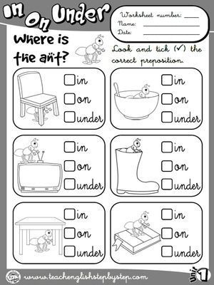 Place Prepositions Worksheet 1 B W Version English Lessons For Kids English Teaching Resources Preposition Worksheets
