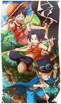 Luffy Ace Sabo One Piece Poster Anime One Piece Ace One Piece Fond D Ecran Dessin