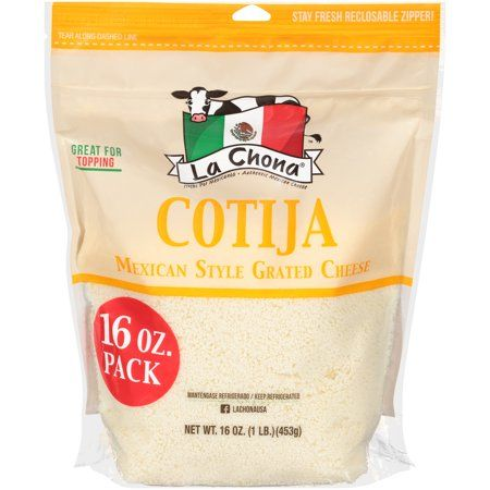 La Chona Cotija Ready To Use Mexican Style Grated Cheese 16 Oz Walmart Com Grated Cheese Mexican Style Cheese