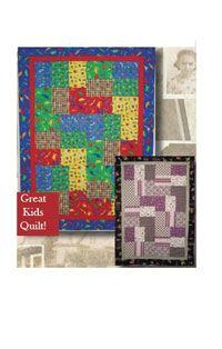 Cheaper By The 1/2 Dozen Quilt Pattern by Legacy Patterns at KayeWood.com. This great fat quarter friendly quilt uses 6 fat quarters to create a scrappy look. Don't think to hard about color choices. This quilt has the look of random color with ease of construction. Makes a great kids or crib quilt! http://www.kayewood.com/item/Cheaper_By_The_1_2_Dozen_Quilt_Pattern/1370 $8.50