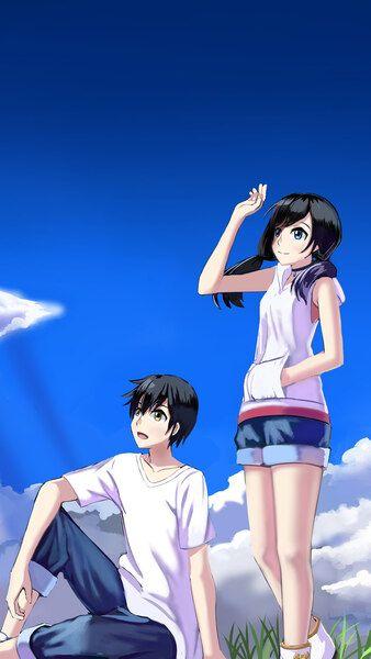Weathering With You Hina Amano Hodaka Morishima 4k Hd Mobile Smartphone And Pc Desktop Laptop Wal Anime Movies Makoto Shinkai Movies Anime Scenery Wallpaper