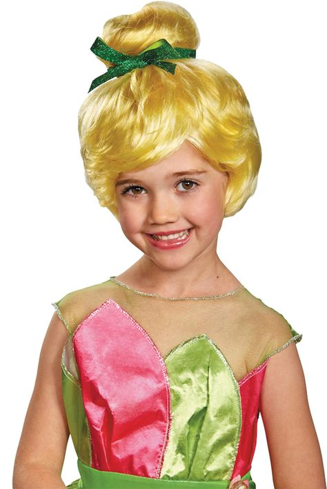 New Disney World Parks Authentic TINKER BELL Costume Wig for Girls